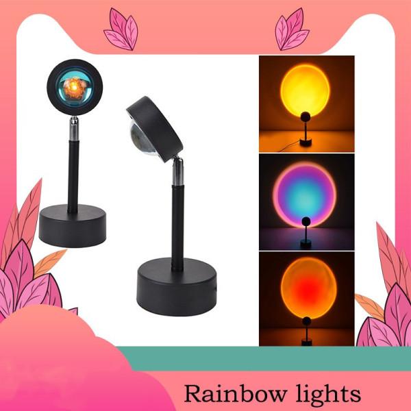 Bảng giá Đèn Led Màu Cầu Vồng Trang Trí Phòng Ngủ Tiktok phổ biến For INS background Sunset Projector Floor Lamp