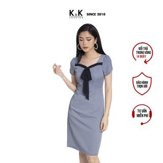 Váy Đầm Ôm Body K&K Fashion KK101-05 Màu Xanh Chất Liệu Vải Tuyết Kim thumbnail