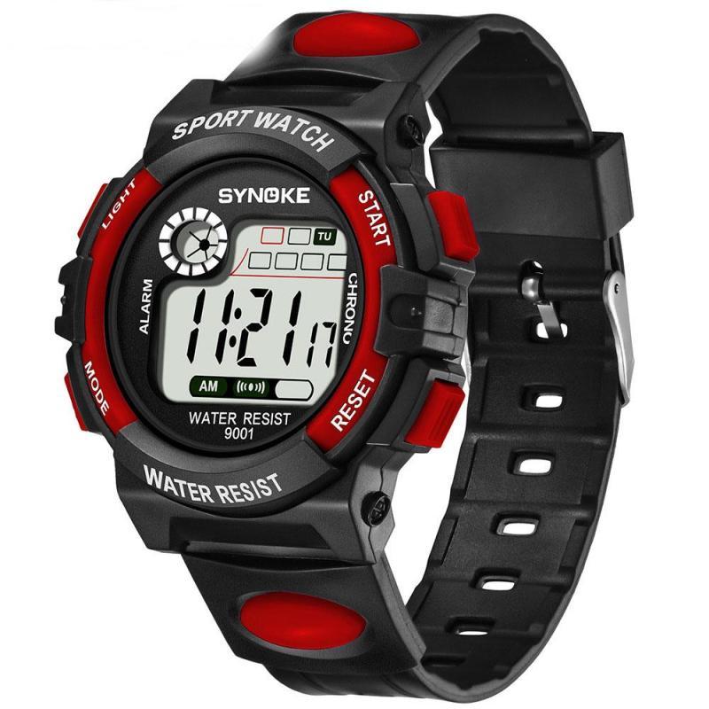 Nơi bán Đồng hồ thể thao trẻ em - đồng hồ điện tử bé trai giá rẻ dây cao su Synoke 9001
