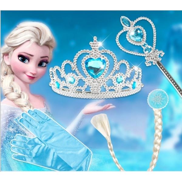 Giá bán Bộ Vương Miện Và Đũa Phép Công Chúa Elsa, Phụ Kiện Công Chúa Long Lanh Cho Bé Gái