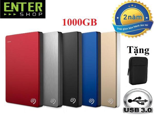 Bảng giá Ổ cứng di động 1Tb Seagate Backup Plus Slim 2.5inch USB 3.0 + Tặng túi bảo vệ Phong Vũ