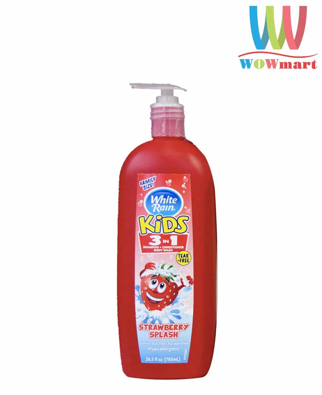 Sữa Tắm Gội 3 In 1 Cho Bé White Rain Kids 783ml - MỸ Có Giá Rất Tốt