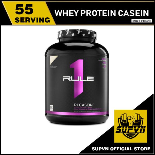 Rule 1 Casein 4lbs - Whey Protein Casein Nuôi Cơ Ban Đêm - Sữa tăng cơ hấp thu trải dài, chống dị hóa cơ