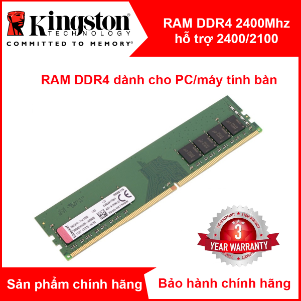 Bảng giá Ram máy tính bàn PC Kingston 4GB 2400MHz Ram DDR4 Phong Vũ