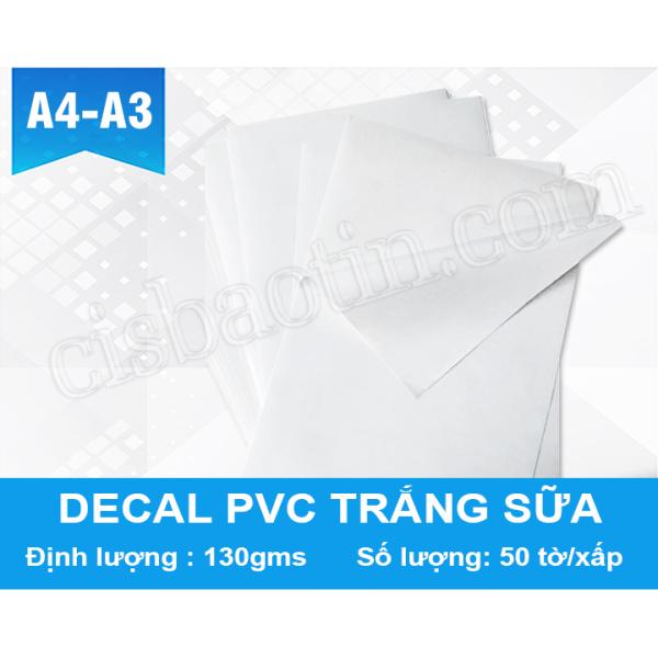 Mua DECAL PVC TRẮNG SỮA (GỐC NƯỚC)- KHỔ A4- XẤP 50 TỜ