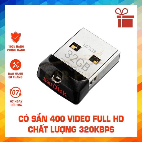 Bảng giá USB OTO Chính Hãng SANDISK 32G Hình Bảo Hành 5 Năm Phong Vũ