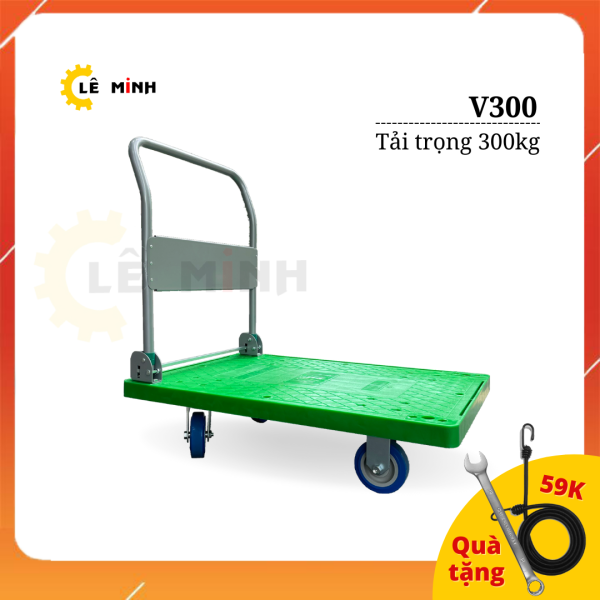 Xe Đẩy Hàng Cao Cấp MAXKIWI - V300 Tải Trọng 300kg [Tặng kèm Cờ lê & Dây ràng hàng hóa]