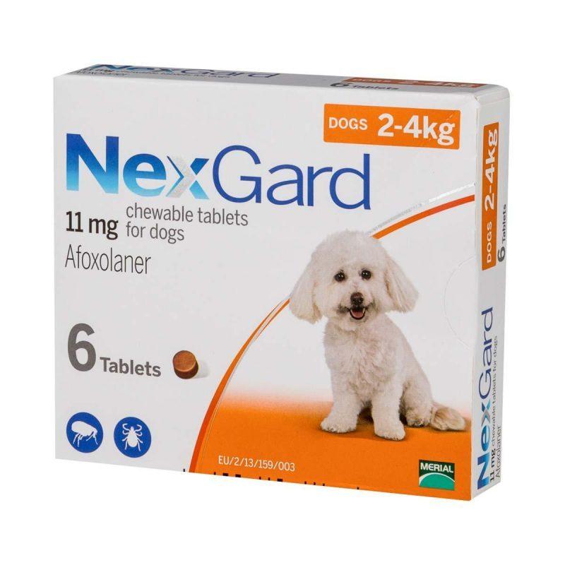 1 viên NexGard giúp loại bỏ ghẻ, ve, rận, bọ chét cho chó từ 2-4kg