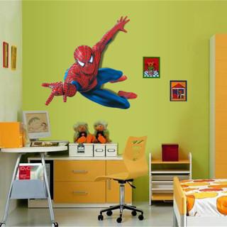 Giấy dán tường hoạt hình Spider man Decal dán tường trang trí phòng cho bé hình người nhện thumbnail