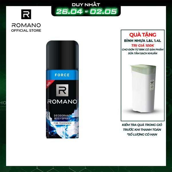 Xịt khử mùi toàn thân Romano Force 150ml giá rẻ