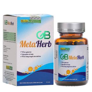 GB Metaherb hỗ trợ giảm béo, giảm mỡ bụng, giảm mỡ máu thumbnail