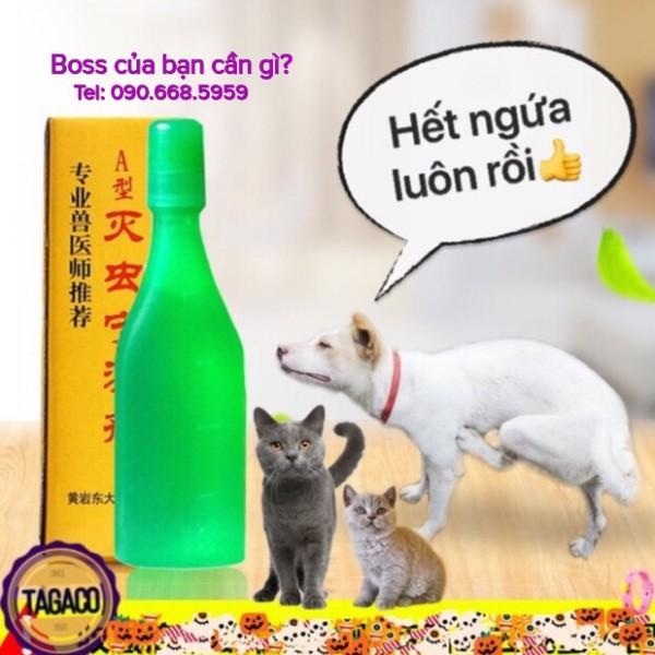 Nhỏ gáy trị ve rận cho chó mèo CHINA(xanh lá)