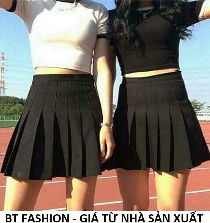 Chân Váy Ngắn Xếp Ly Lưng Cao Thời Trang Hàn Quốc - BT Fashion (Tenis 01A)