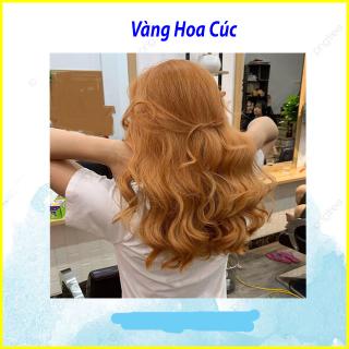 Trọn bộ Thuốc nhuộm tóc màu VÀNG HOA CÚC tại nhà +(TẶNG KÈM OXY TRỢ NHUỘM + GĂNG TAY) thumbnail