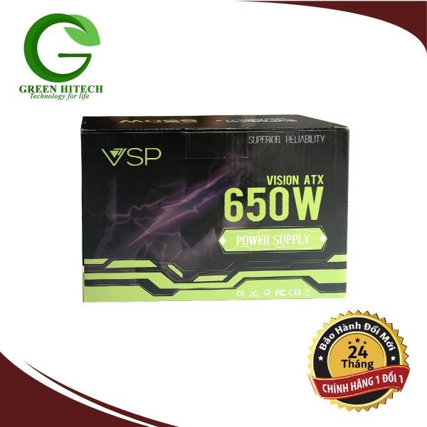 Bảng giá Nguồn VSP 650W Full Box - Kèm Dây Nguồn-  Bảo Hành 24 tháng Phong Vũ