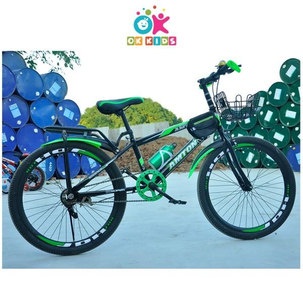 Mua Xe đạp trẻ em dáng thể thao cho bé từ 7 đến 10 tuổi có la bàn và chuông bảo hành 2 năm