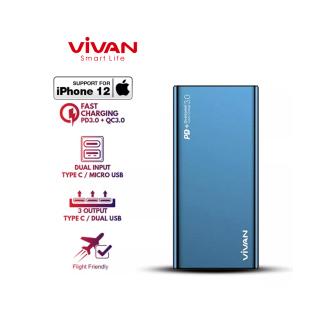 Pin Sạc Dự Phòng 10000mAh VIVAN VPB-F10S 2 Input 3 Output Sạc Nhanh PD QC 3.0 Công Suất 18W Hợp Kim Nhôm Cao Cấp - BH 12 THÁNG 1 ĐỔI 1 thumbnail