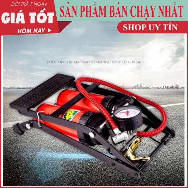Bơm hơi dùng chân 2 ống nén khí High Pressure Foot Pump (Lớn) -Bơm hơi đạp chân mini 2 ống bơm ô tô xe máy - Bơm đạp chân mini dùng cho xe đạp, xe máy, ô tô
