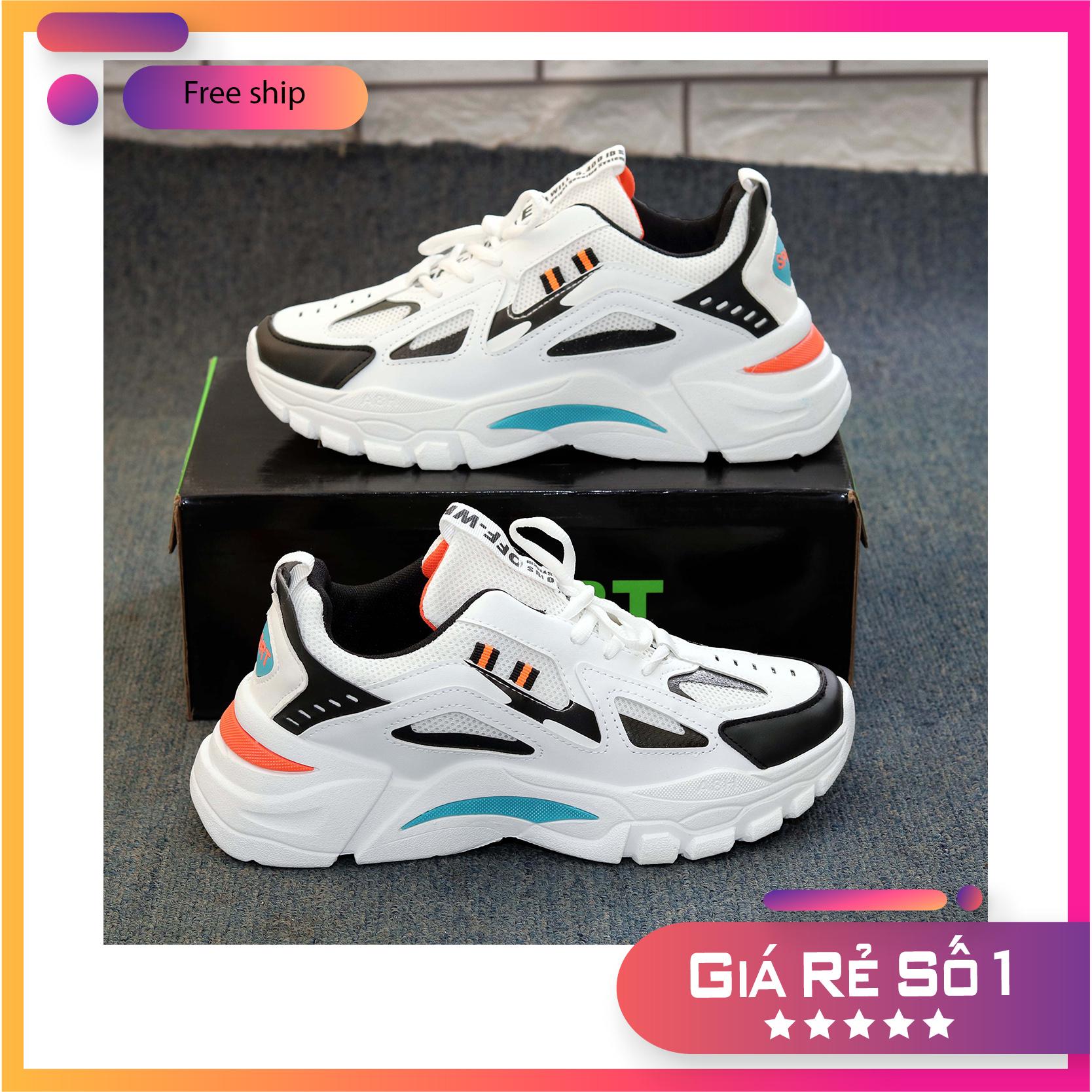 Giày Nam, Giày Thể Thao Nam, Giày Sneaker Nam Nữ, Giày Thể Thao Hot Trend Cao Cấp - Tặng Kèm Tất Lửa Nam Với Giá Sốc