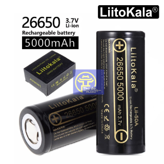 01 Pin sạc Liitokala Engineer Lii-50A 3.7V 26650 5000mah 20A Dung Lượng Cao dùng cho đèn pin, thiết bị điện tử cao... thumbnail
