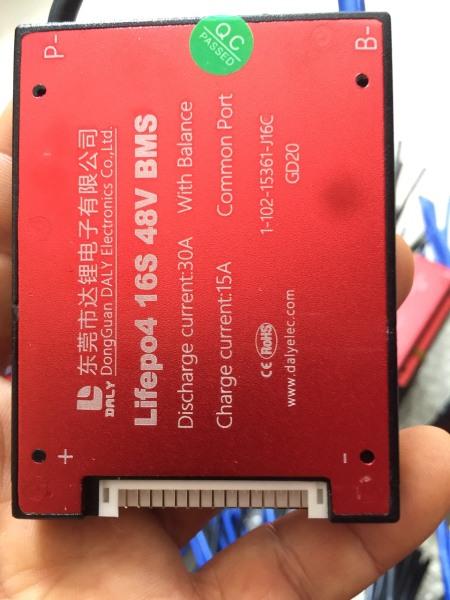 Mạch bảo vệ pin xe điện lithium BMS lifePO4 15S 48V 30A