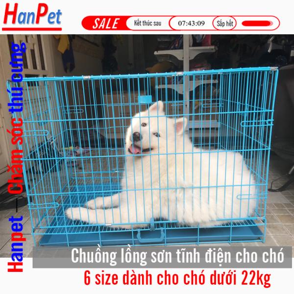 HN Hanpet -Chuồng nuôi chó mèo ( SD CÓ 6 SIZE SD35  SD45 - SD50 - SD60 - - SD70- SD75 -SD90 )- lồng nuôi chó mèo - Chuồng chó - lồng chó gấp gọn sơn tĩnh điện (Màu ngẫu nhiên) chuồng mèo - chuồng nuôi mèo - lồng mèo -  - lồng nuôi nhốt thú c