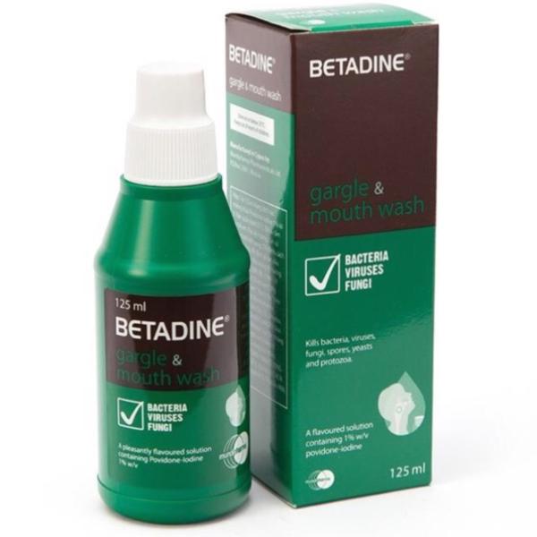 Dung dịch súc miệng và sát trùng Họng Betadine Gargle & mouth wash ( 125ml ) giá rẻ