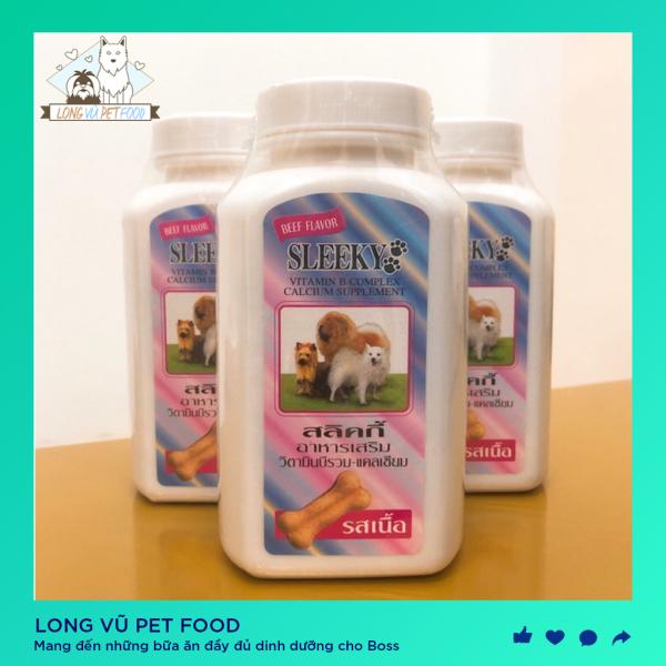 Canxi - Vitamin Sleeky Thái bổ sung tổng hợp canxi và vitamin cho chó mèo