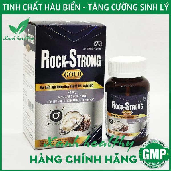 ROCK - STRONG GOLD - Violet -Viên uống tăng cường sinh lý nam từ hàu biển bổ thận tráng dương, mạnh gân cốt, giảm tiểu đêm thành phần hàu biển dâm dương hoắc nhân sâm, tỏa dương - Hộp 30 viên Hàng chính hãng