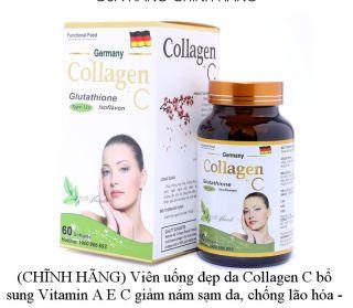 (CHĨNH HÃNG) Viên uống đẹp da Collagen C bổ sung Vitamin A E C giảm nám sạm da, chống lão hóa - Hộp 60 viên thumbnail