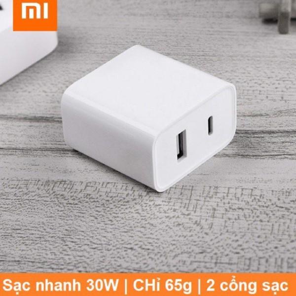 Cốc sạc nhanh type C Xiaomi 30W(1 USB+1 PD Type C)