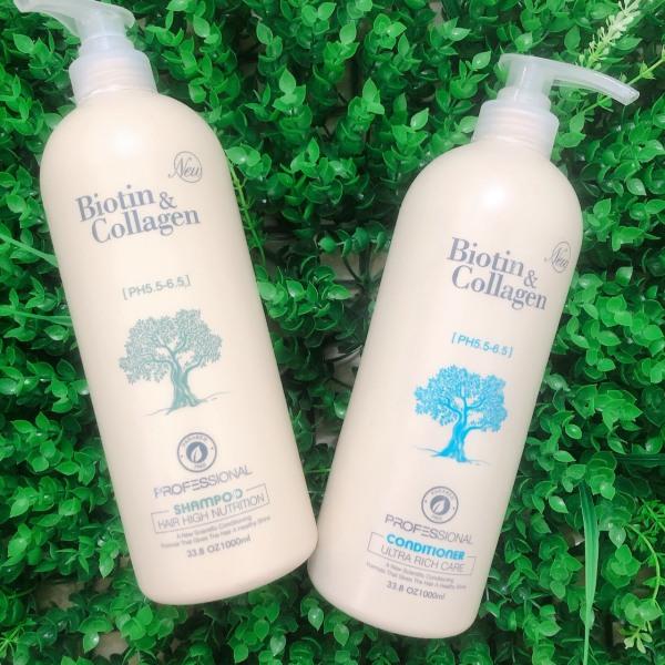 Dầu gội xả phục hồi và kích thích mọc tóc Biotin & Collagen 1000ml cao cấp