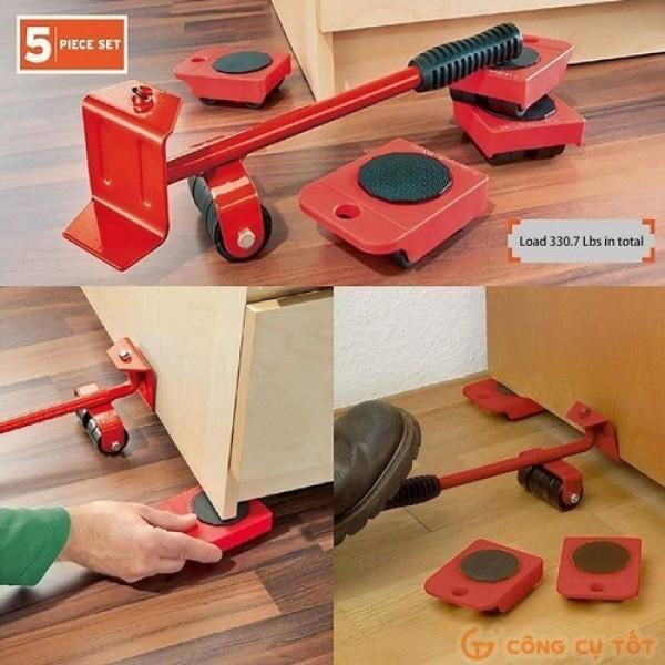 Hàng Mới Về Bộ dụng cụ nâng và di chuyển đồ đạc - Nâng và di chuyển đa năng dễ sử dụng - Dụ cụ nâng và di chuyển tủ, bàn, giường, két sắt ... đa năng