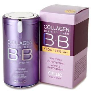 Kem trang điểm mỏng mịn BB Collagen Cellio Hàn Quốc 40ml (Da tự nhiên) thumbnail