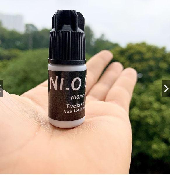 Keo nối mi không cay Nio glue monchery (5ml), khô chậm dành cho người mới học nối, có thể tự nối được giá rẻ