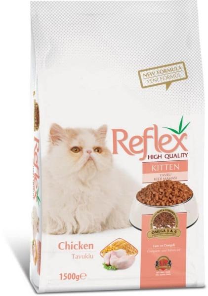 hạt Reflex mèo con và trưởng thành  vị gà 1,5kg (Thức ăn cho mèo Reflex Kitten adult Food Chicken )