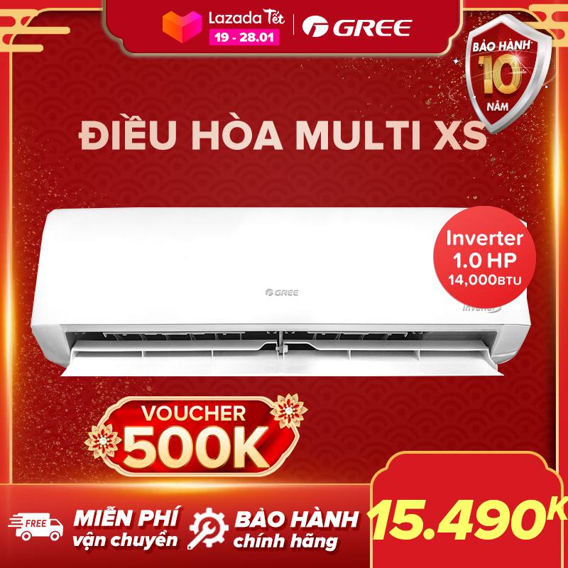 Điều hòa GREE- công nghệ Real Inverter -1 dàn nóng 14.000 BTU kết hợp với 2 dàn lạnh 7000 BTU và 9000 BTU - MULTI XS(Trắng) - Hàng phân phối chính hãng