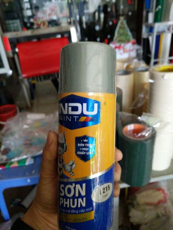 Sơn phun iNDU i215 400ml màu ghi (grey).