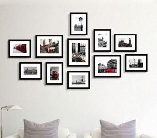 bộ khung tranh ảnh đen trắng trang trí treo tường thumbnail