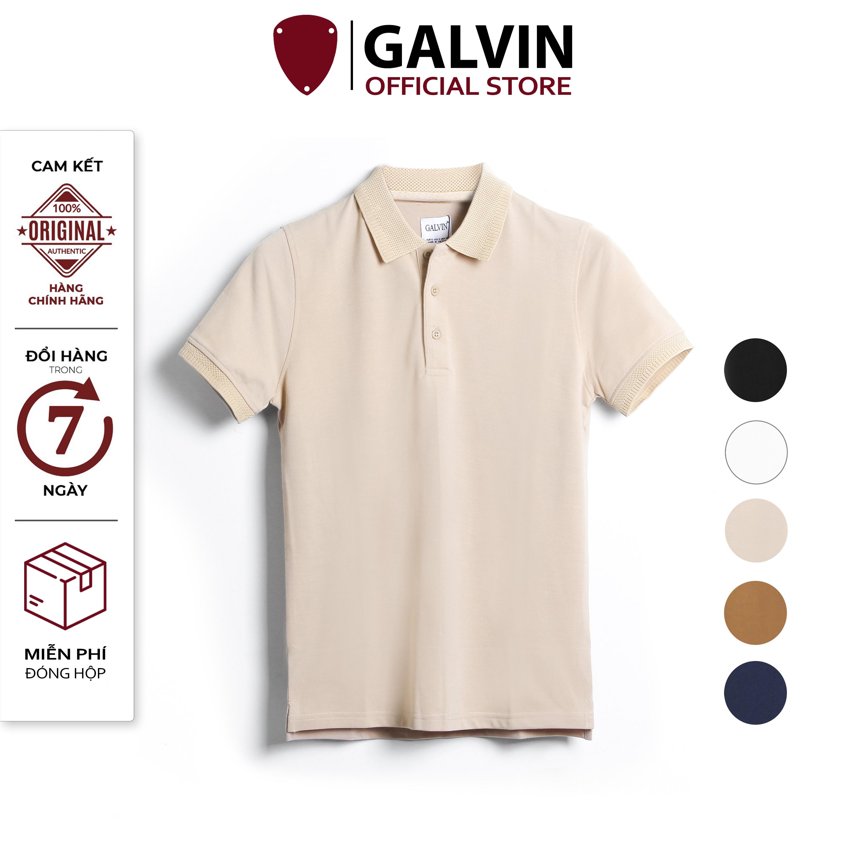 GALVIN_Áo polo nam cổ bẻ chính hãng phối dệt lưới cổ và bo 5 màu basic cổ dệt, áo thun nam có cổ chất cá sấu cotton co giãn mềm dáng ôm phong cách trẻ trung ( bộ 5 màu ) PLGV25