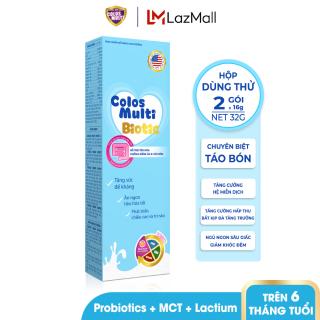 [HỘP DÙNG THỬ] Sữa bột chuyên biệt cho trẻ táo bón, tiêu hóa kém Mama Sữa Non Colos Multi Biotic hộp 2 gói x 16g thumbnail