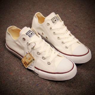 Giày Converse Classic trắng cổ thấp chính hãng (trắng) thumbnail