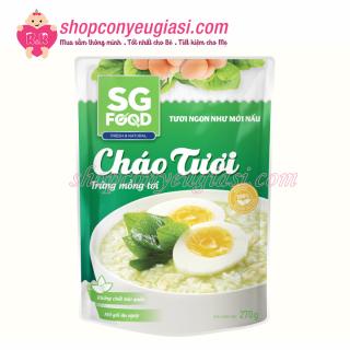 Cháo Tươi SG Food 270gr Nhiều Vị Cho Bé Từ 12m+ - Trứng Mồng Tơi thumbnail