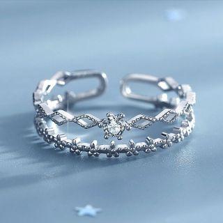 Nhẫn Nữ Nhẫn Bạc Nữ S925 Dạng Nhẫn Kép Điều Chỉnh Được Size - N2619 - Bảo Ngọc Jewelry thumbnail
