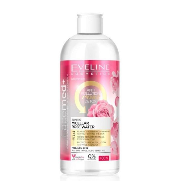 Nước tẩy trang tinh chất hoa hồng EVELINE FACEMED+ 400ML (new) cao cấp