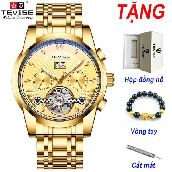 [TẶNG VÒNG TAY] ĐỒNG HỒ NAM CHẠY CƠ AUTOMATIC TEVISE T9005F ĐẲNG CẤP DOANH NHÂN bán chạy