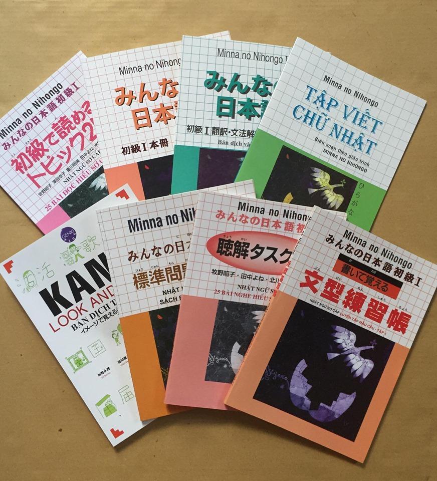 Trọn Bộ Sách Tiếng Nhật N5 Bbộ 8 Quyển Giảm Cực Hot