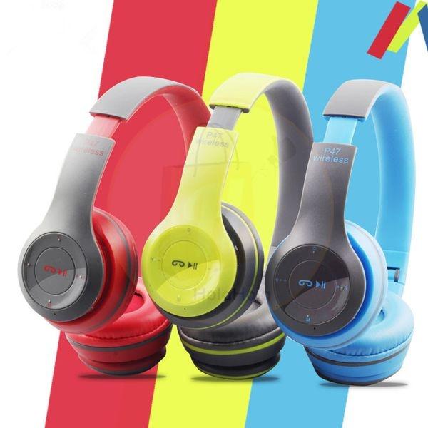 Tai nghe chụp tai cao cấp có khe thẻ nhớ Bluetooth P47 MẪU MỚI NHẤT 2020