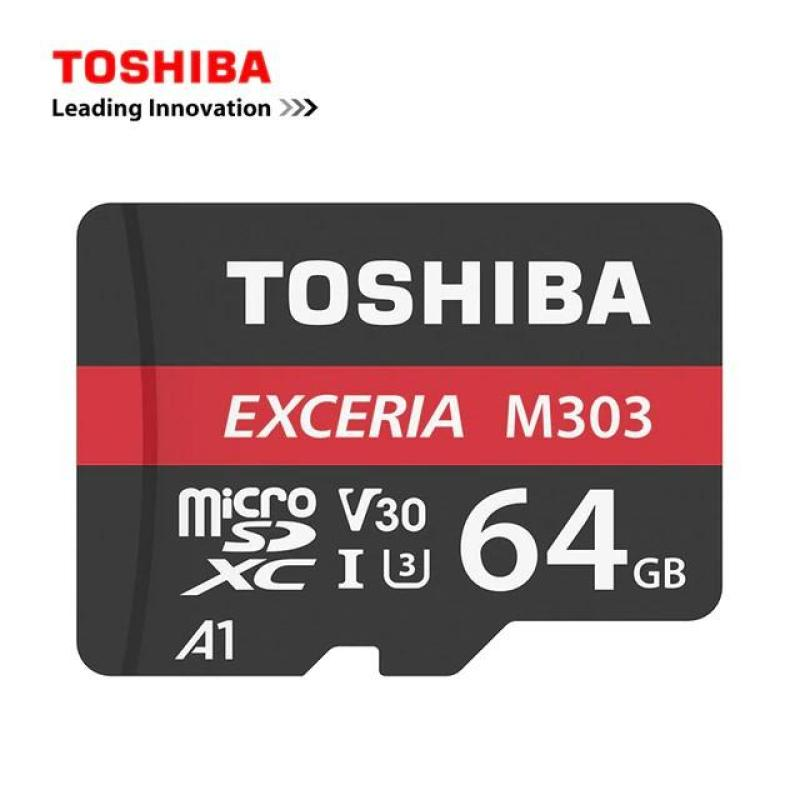 Thẻ nhớ MicroSDXC Toshiba Exceria M303 64GB UHS-I U3 4K V30 A1 R98MB/s W65MB/s (Đen)