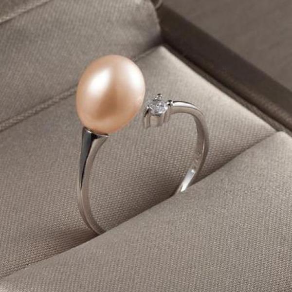 nhẫn bạc ngọc trai thật 100% nét đẹp mỹ miều